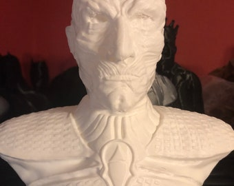 """3D Printed White Knight from Game of Thrones - 7.5"""" Tall"""