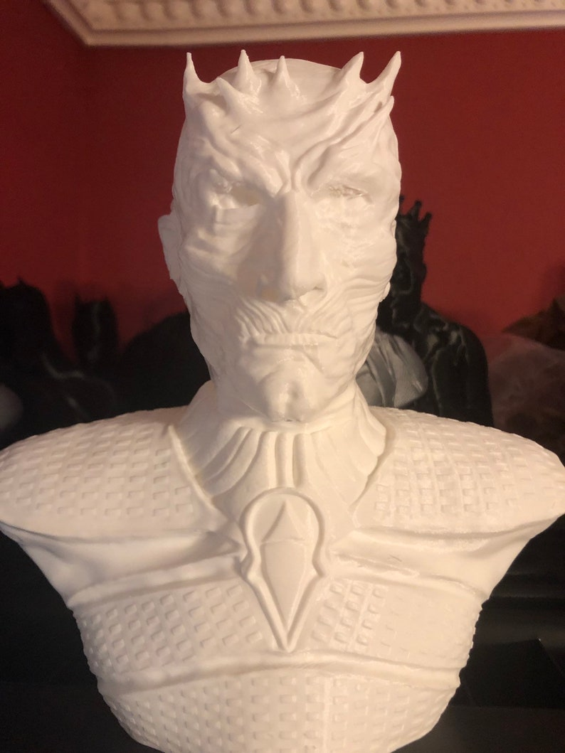 3D Printed White Knight from Game of Thrones  7.5 Tall image 0