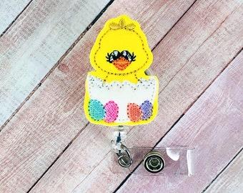 Baby Chick Badge Reel; Easter Badge Reel