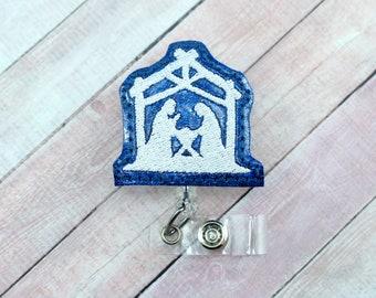 Nativity Badge Reel-Christmas ID Holder-Christmas Badge Reel-Reason For The Season Badge Reel-Badge Holder-Retractable ID Badge Holder