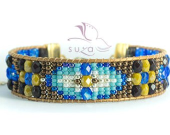 Gift for her * Loomed beaded bracelet - Sundance style by Suza