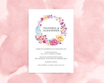 Wedding Invitation - Printable PDF - Kensington Collection