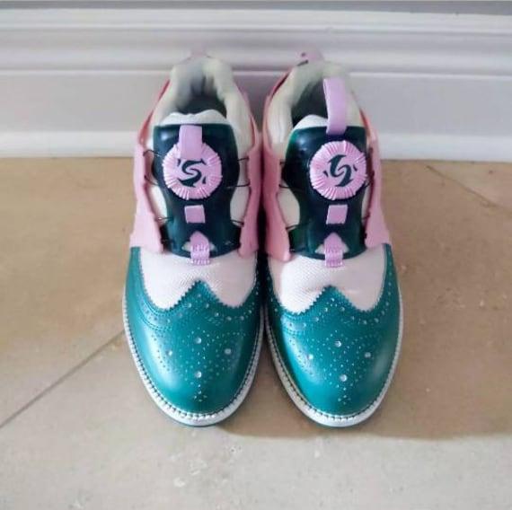 Rare Puma x Mihara Yasohiro My-72 Pump Fury Brogue Sneaker, Pink and Green