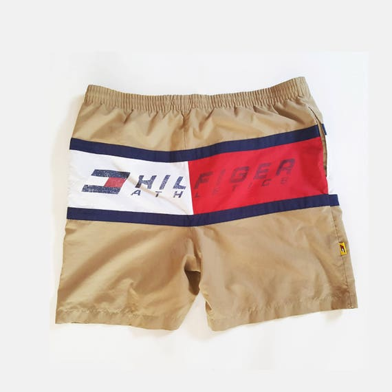 80s Tommy Hilfiger Graphic Swim Trunks Size L, Swi