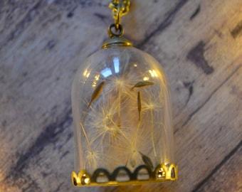 Dandelion Globe Necklace