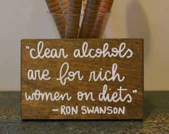 Ron Swanson Mini-Sign