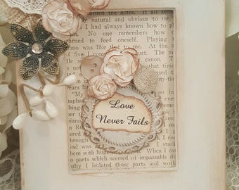 Inspirational Framed Art Piece - Love Never Fails