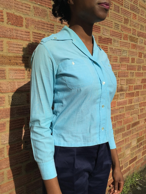 Woman Military style blouse