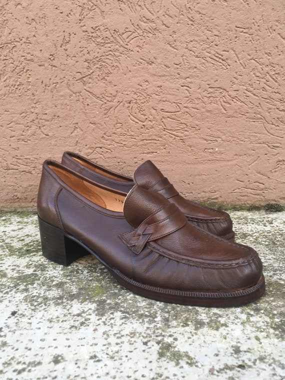 Vintage Woman Moccasin Brown - - - Made in Italy - classic style and comfortable Chaussure s | à L'aise  f39bc8