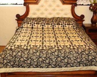 Trip Around the Star King Size Handmade Amish Quilt