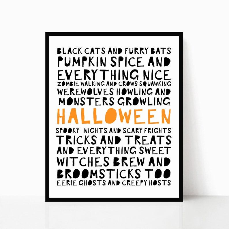 Halloween Printable   Halloween Decorations   Halloween Sign   Kids  Halloween Party   Halloween Subway Art Printable   Halloween Poster