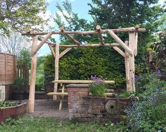 Rustic hardwood Pergola