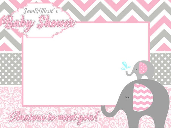 Elephants Baby Shower Frames Baby Shower Photo Booth Frame