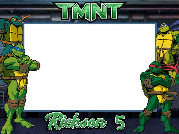 Tmnt Birthday Frames Photo Booth Frame Frame Prop Etsy