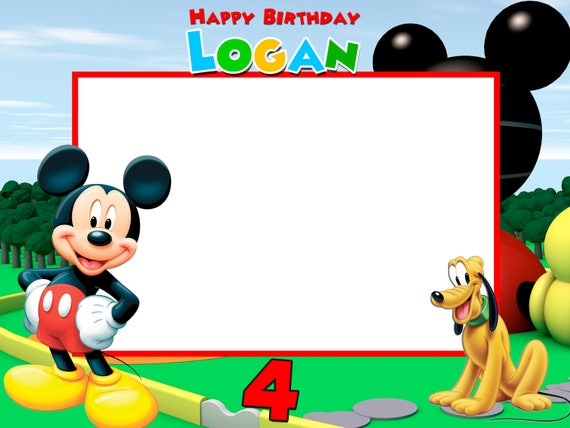 Mickey Birthday Frames Mickey Photo booth Frame Frame | Etsy