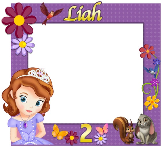 Large Custom Birthday Frames Sofia the first Photo booth | Etsy
