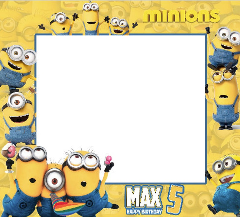 Minions Birthday Frames Minions Photo Booth Frame Frame Etsy