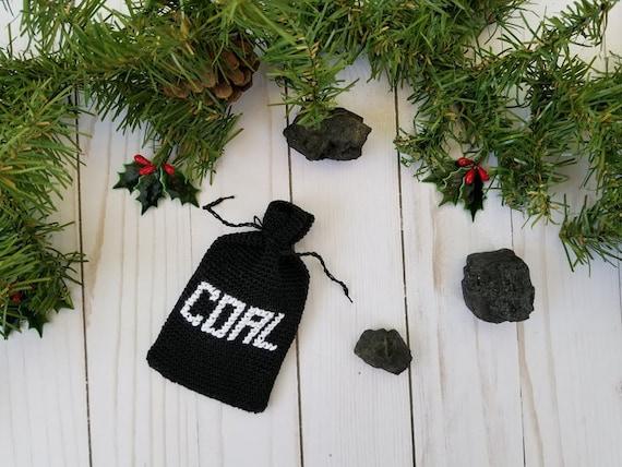 Crochet Coal Bag Ornament Gift Card Holder Pattern Only Gag Etsy
