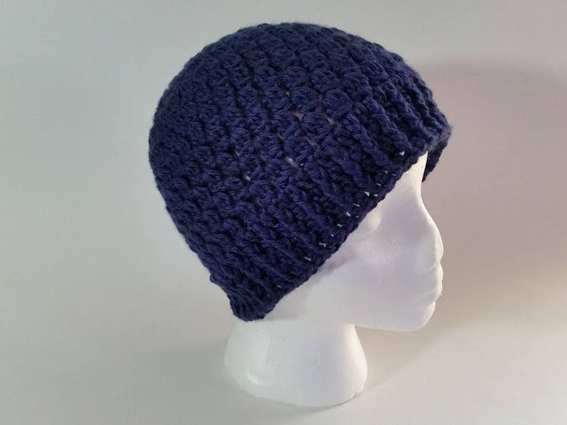 fe0bd0ac89e Crochet Navy Clusters Hat PATTERN ONLY pdf instant digital