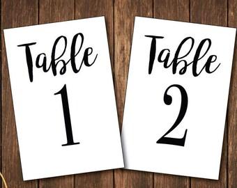 Wedding table numbers- Printable table numbers-Numbers 1-30