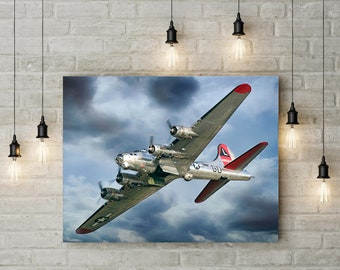 Art canvas painting Propeller Aircraft Pictures Artwork Retro Vintage World War II Airplane Poster Historical Military Canvas Modern Art Decor 60x90cm