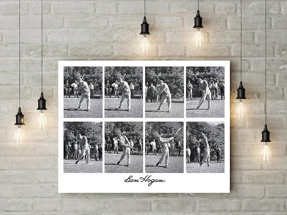 Golfer Gift Ben Hogan Golf Poster Masters Champion Rare Swing Etsy