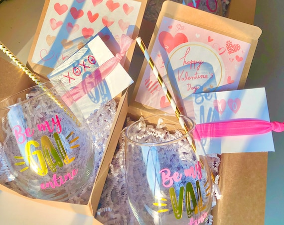 Happy Galentine's Day Boxes | Galentine's Day Boxes | Valentine's Gift for Friend | Galentine's Gift for Friend | Virtual Valentine's | Box