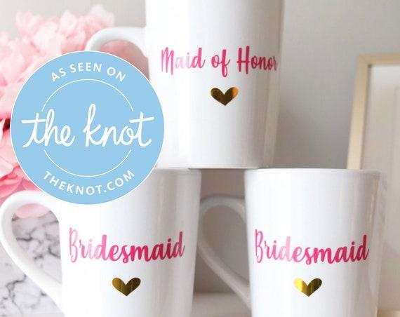 Bridesmaid Favors | Maid of Honor Favors | Bridesmaid Mugs | Wedding Favors | Bachelorette Favors | Bridesmaid Proposal Gifts | Trendy