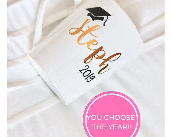 Personalized Graduation Gift | Graduation Wine glass | Graduation Gift | Customizable Grad Gift | Class of 2019 Gift | Grad Name Wine Glass