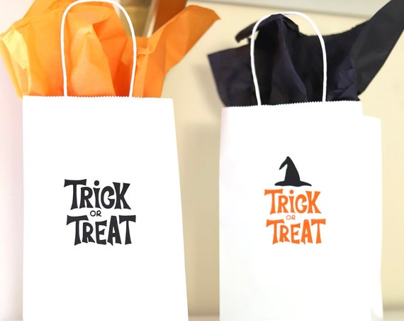 Halloween Gift Bags | Halloween Treat Bags | Halloween Goodie Bags | Personalized Halloween Favors | Halloween Favor Bags | Halloween