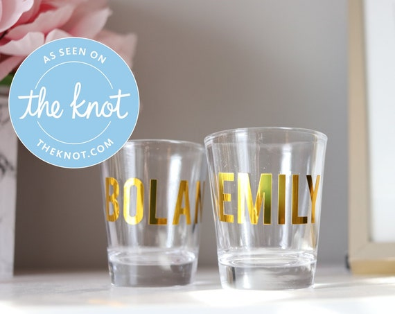 Personalized Shot Glass | Sorority Gift | College Girl Gift | Customized Glass | Shot Glasses with Name | 21st Bday | 21st Birthday Gift