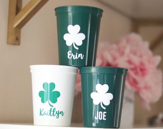 Personalized Saint Patrick's Day Cups   Saint Patty's Day Favors   St. Patrick's Day Cups   St. Patty's Day Cups   Happy Saint Patrick's Day
