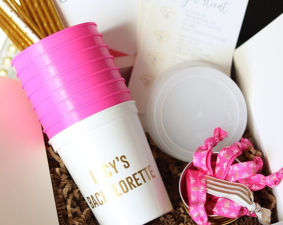 Bachelorette Party BOX | Bachelorette Box with Cups | Bachelorette Kit | Bachelorette Cups | Bachelorette Party Favors | Design your own