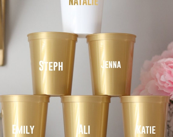 Bachelorette Party Cups with Names | Bachelorette Party Favors | Personalized Bachelorette Party Gifts | Customized Trendy Bach Party | Name