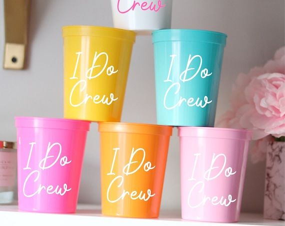 I Do Crew   Bachelorette Party Cups   Bachelorette Party Favors   Personalized Bachelorette Party Gifts   Customized  Bach Party   Trendy