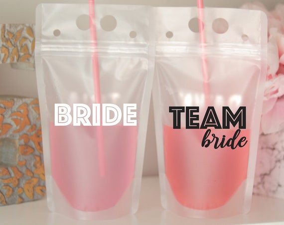 Team Bride Bachelorette | Team Bride Favors | Drink Pouch | Personalized Name Fiesta Bachelorette Favor | Beach Weekend Favor | Personalized