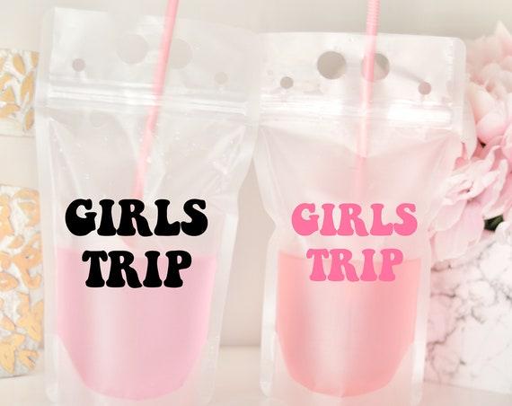 Girl Trip Drink Pouch | Girls Trip Gift | Girls Trip Favor | Packable Favor | Booze Bag | Drink Pouch Favor | Pool Party Favor | Beach Trip