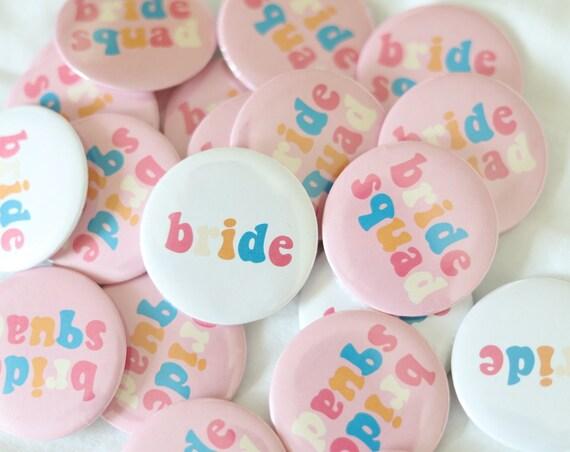 Bride Squad Buttons | Bride Squad Bachelorette Pins | Bride Squad Favors | Bachelorette Pins | Bride Squad T Shirt Buttons Small Bach Favor