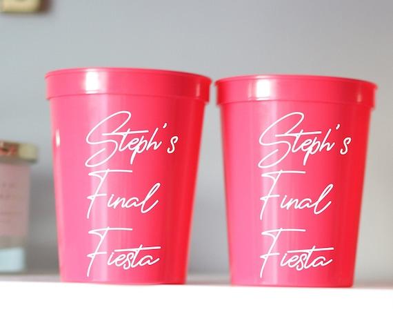 Final Fiesta Bachelorette Party Cups | Cancun Bachelorette | Mexico Bachelorette | Personalized Fiesta Cups |  Bachelorette Party Favors