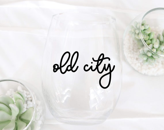 Neighborhoods of Philly Wine glass   Philly Neighborhoods Wine glass   Philly Wine glass   Philly Gift   Old City Fishtown South Philly