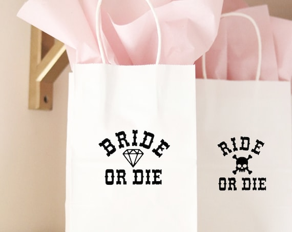 Ride or Die Favors | Bride or Die Favors | Ride or Die Bachelorette Party Gift Bags  | Ride or Die Party Favors | PersonalizedGift Bags