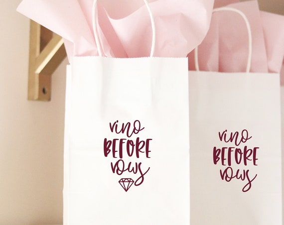 Winery Bachelorette Favors | Winery Bachelorette Gift Bags | Vino Before Vows | Wine Bachelorette Gift Bags | Wine Bachelorette Party Favors