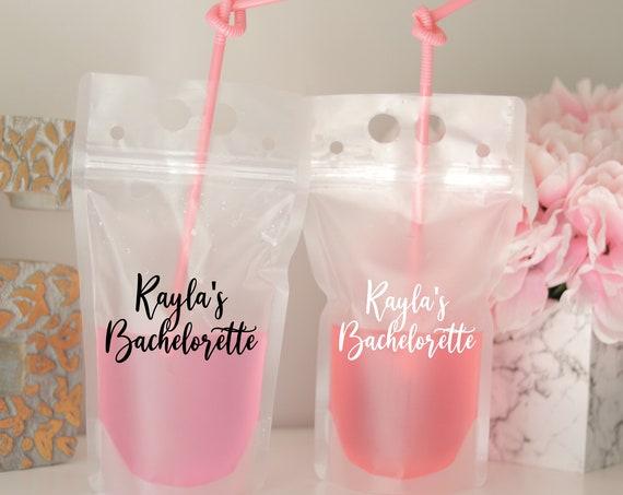 Bachelorette Drink Pouch   Personalized Bachelorette Favors   Booze Bags   Drink Pouch   Bach Party Favors   Bach Bash   Name's Bachelorette