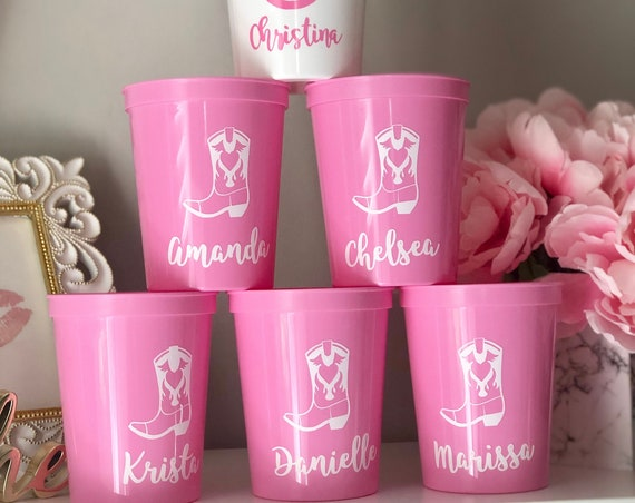 Nashville Cowgirl Boots Bachelorette Party Cups | Bachelorette Party Favors | Bach Party Gifts | Bachelorette Cups | Nash Bash Cups Country