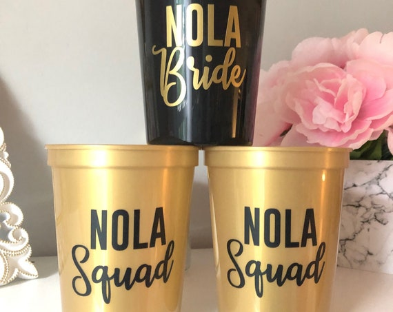 Personalized Bachelorette Party Favor Cups