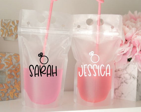 Personalized Drink Pouch | Booze Bag | Bachelorette Party Pouch | Bachelorette Drink Pouch | Personalized Adult Drink Pouch | Bach Favors