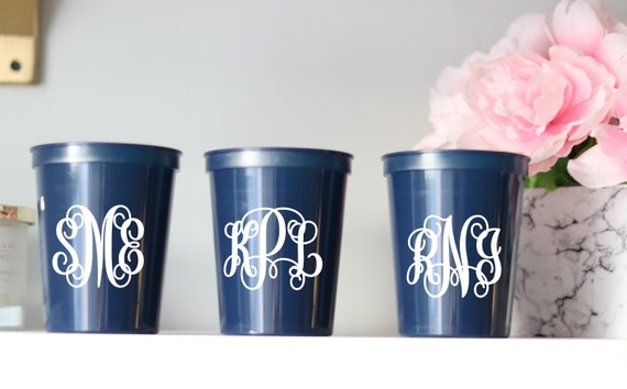 Monogram Bachelorette Party Cups | Bachelorette Party Favors | Bach Party Gifts | Personalized | Customized | Bachelorette Decorations