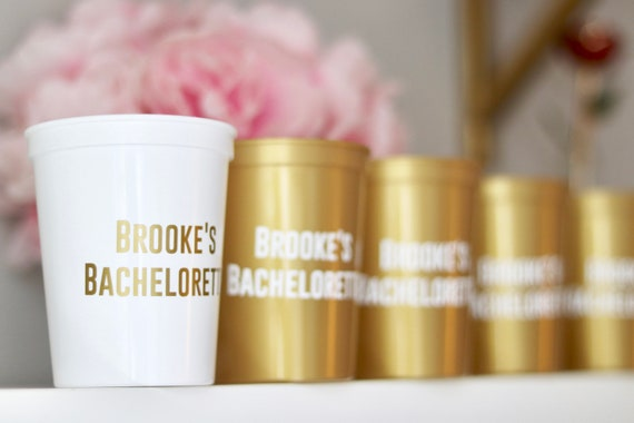 Bachelorette Party Cups | Bachelorette Party Favors | Personalized Bachelorette Party Gifts | Customized  Bach Party | Trendy Bachelorette