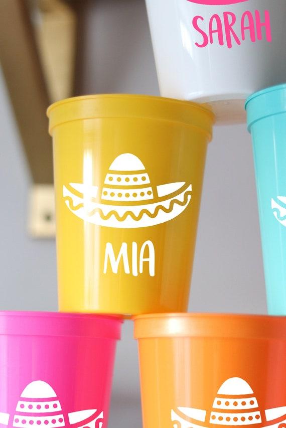 Fiesta Bachelorette Party Cups | Cancun Bachelorette | Mexico Bachelorette | Personalized Fiesta Cups |  Bachelorette Party Favors | Cancun
