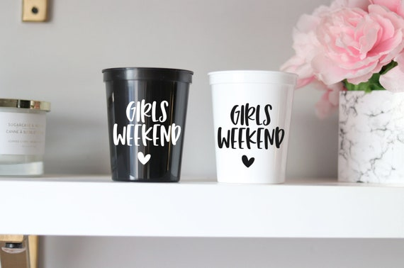 Girls Trip Favors | Girls Weekend Cups | Girls Weekend Favors | Cute Girls Trip Gifts | Bachelorette Party Cups | Personalized | Sleepover